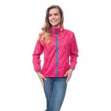 Elle куртка женская Dotty Rose (розовый в белый горошек)