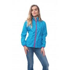 Elle куртка женская Dotty Blue (синий в белый горошек)