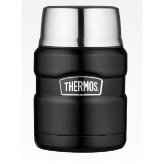 Термос для еды с ложкой Thermos SK 3000 BK Matt Black, 0.47 л