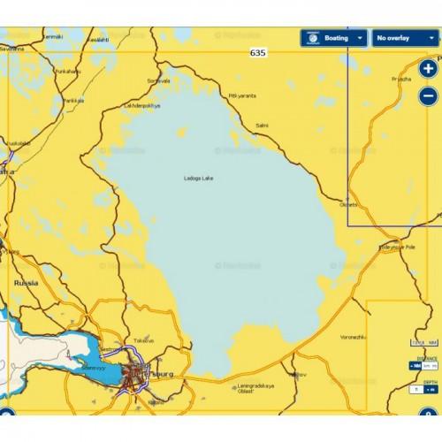 Карта глубин - Ладожское озеро